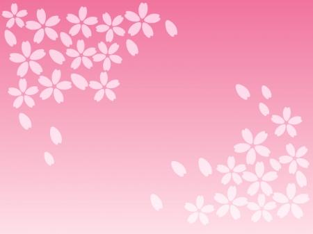 桜のフレーム・飾り枠素材03