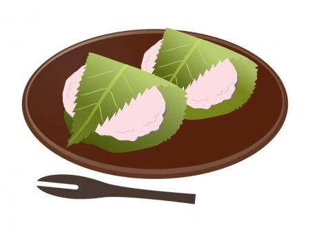 桜もちのイラスト素材