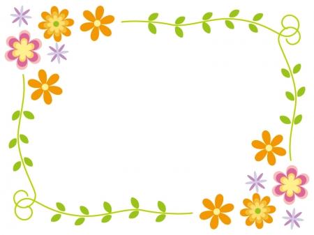 花のフレーム・飾り枠素材01 ...
