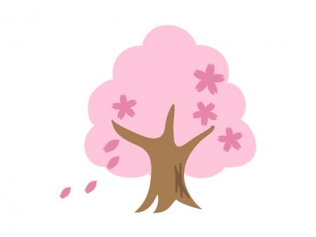 桜の木のイラスト素材