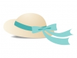 帽子(グリーンリボン)のイラスト素材