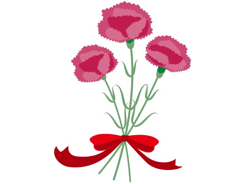 カーネーションの花束のイラスト素材
