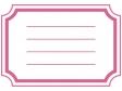 ラベル風(ピンク)フレーム・枠素材01