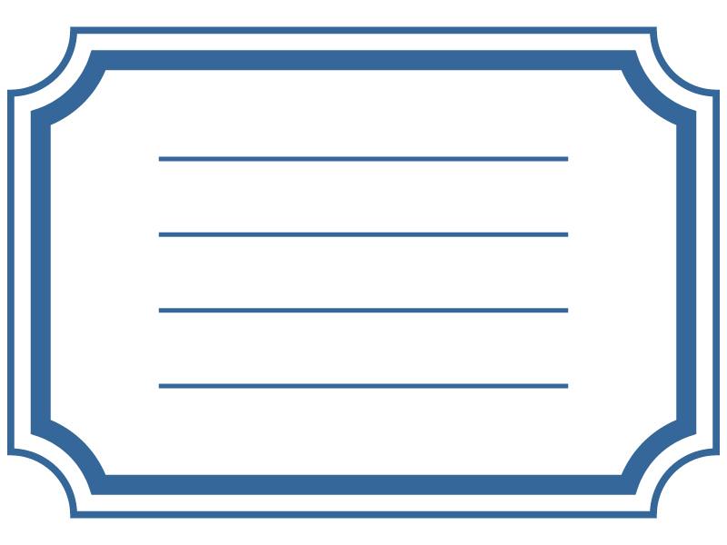 ラベル風(ブルー)フレーム・枠素材01