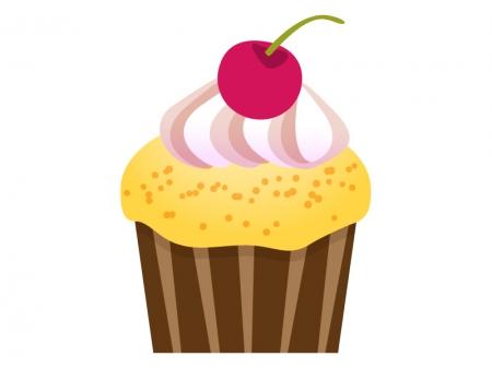 カップケーキのイラスト素材01