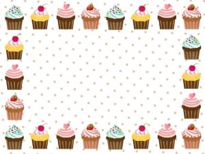 カップケーキのフレーム・枠素材