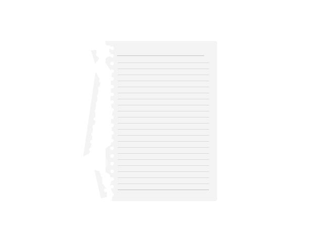 破れたノート用紙のイラスト素材
