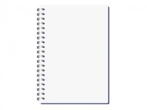 シンプルな自由帳ノートのイラスト素材