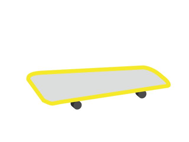 黄色いスケボーのイラスト素材