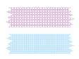 ピンク色の水色のマスキングテープのイラスト素材