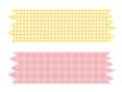 黄色とピンク色のマスキングテープのイラスト素材