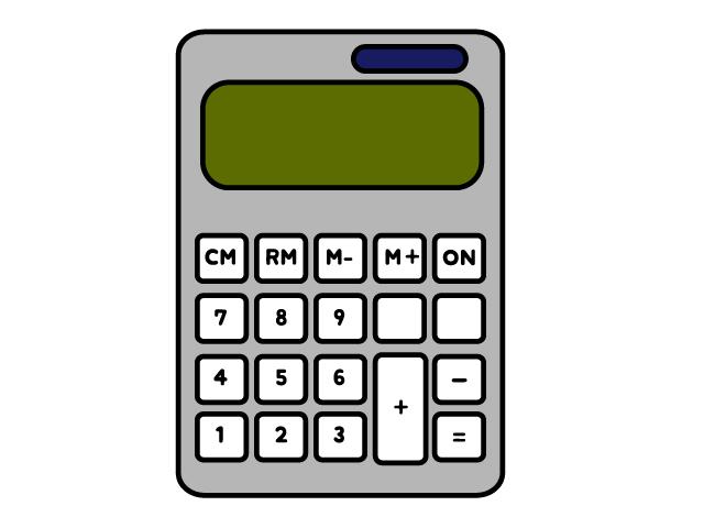 計算機(電卓)のイラスト素材