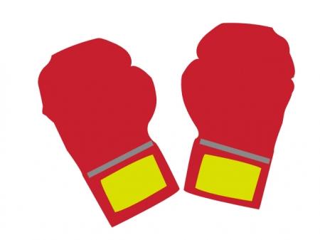 ボクシングのグローブのイラスト素材