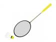 バトミントンのラケットと羽のイラスト素材