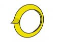 黄色いマスキングテープのイラスト素材