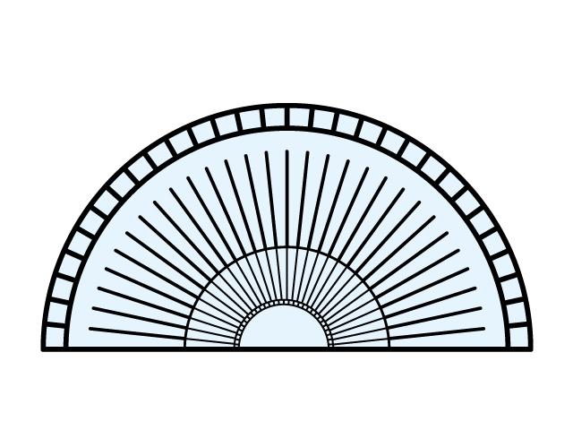 分度器・文房具のイラスト素材