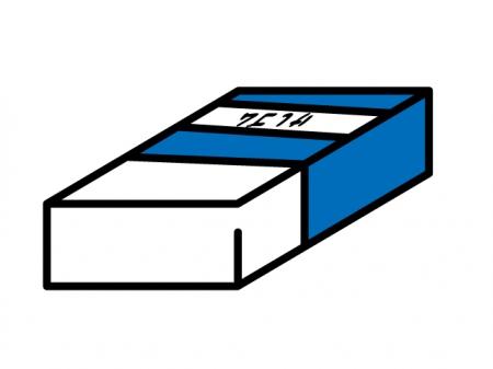 シンプルな消しゴム・文房具イラスト素材