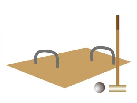 ゲートボールのイラスト素材02