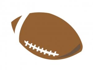 ラグビーボールのイラスト素材02