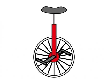 一輪車のイラスト素材