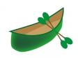 ボートとオールのイラスト素材