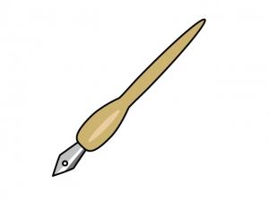 茶色い万年筆のイラスト素材