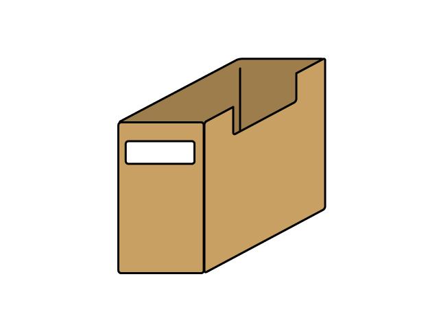 茶色いファイルケースのイラスト素材