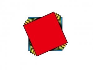重なった折り紙のイラスト素材