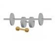 ダンベルと鉄アレイのトレーニングセットのイラスト素材