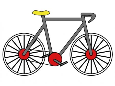 自転車・サイクリングのイラスト素材
