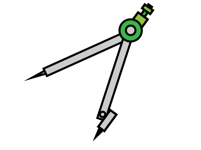 コンパス・文房具のイラスト素材
