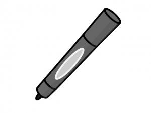 黒いマーカーペンのイラスト素材