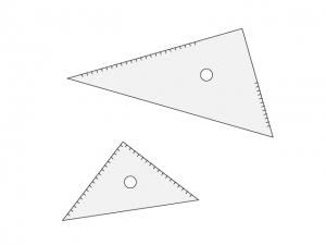 三角定規・文房具のイラスト素材