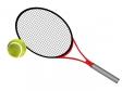 テニスラケットとボールのイラスト素材