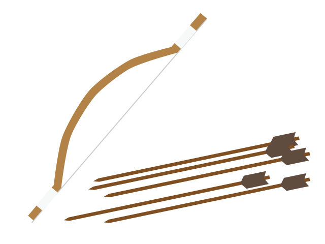 弓と矢のイラスト素材
