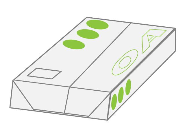 コピー用紙のイラスト素材