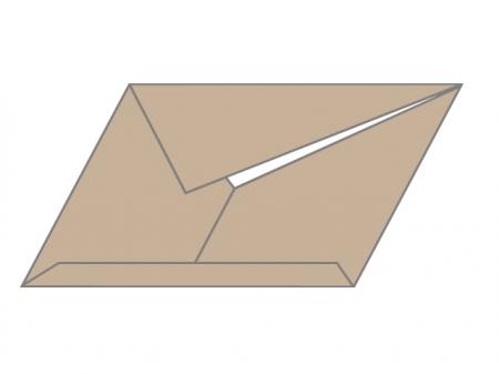 茶色い封書のイラスト素材