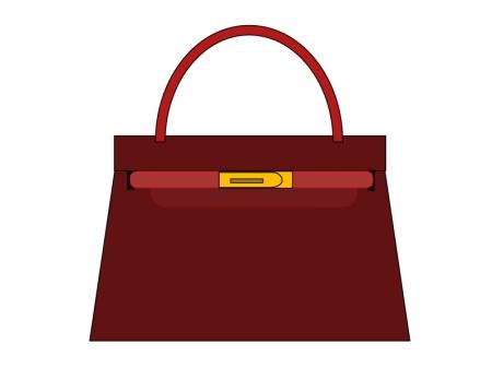 茶色い女性用バッグのイラスト素材