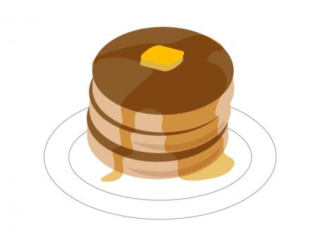 ホットケーキ・パンケーキのイラスト素材