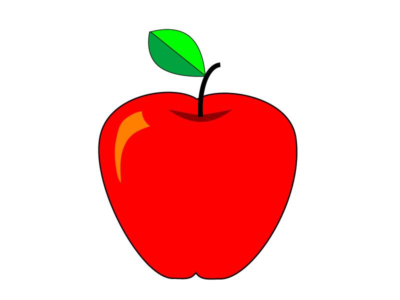 りんご・アップル・果物イラスト素材02