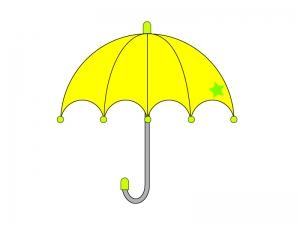 黄色い傘・梅雨イラスト素材