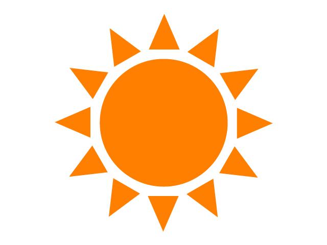 太陽・晴れ・お日様イラスト素材