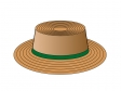 茶色い帽子のイラスト素材