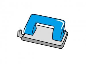 パンチャー(パンチ)・文房具のイラスト素材