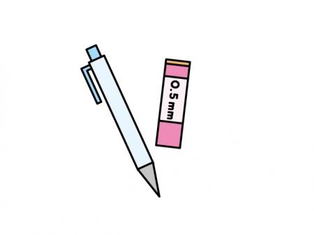 シャーペンと芯のイラスト素材