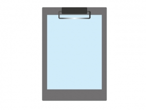 バインダーとメモ・回覧板のイラスト素材