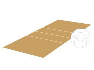 バレーボールとコートのイラスト素材