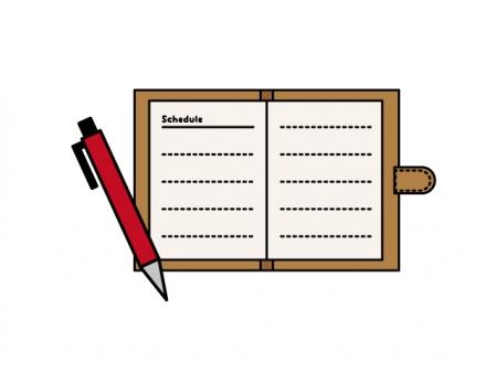 ノート・メモとペンのイラスト素材