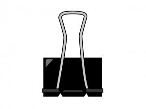 大きな黒いクリップのイラスト素材