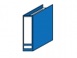 青い書類ファイルのイラスト素材